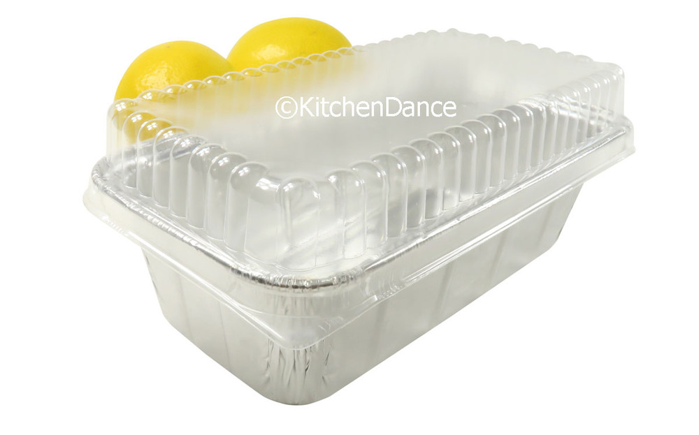disposable aluminum foil ½ pound loaf pan, baking pan, food container