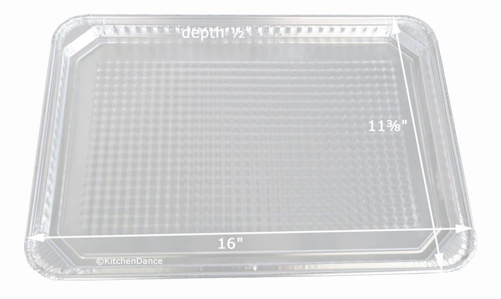 Disposable Aluminum Foil Waffle-Bottom Cookie Sheet