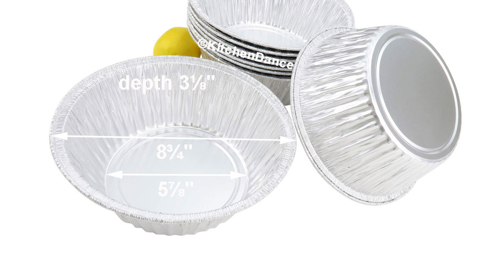 """disposable aluminum foil 8"""" round baking pans - cakes, casserole"""