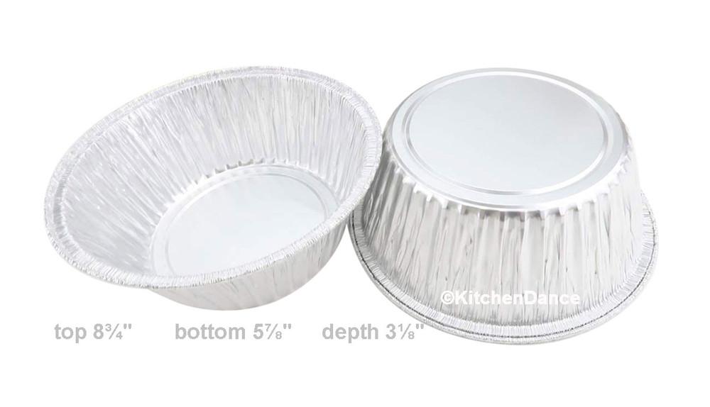 """disposable aluminum foil 8"""" round baking pan - cakes, casserole"""