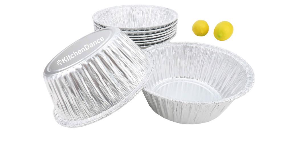 """disposable aluminum foil 8"""" round baking pan - cakes, casseroles"""
