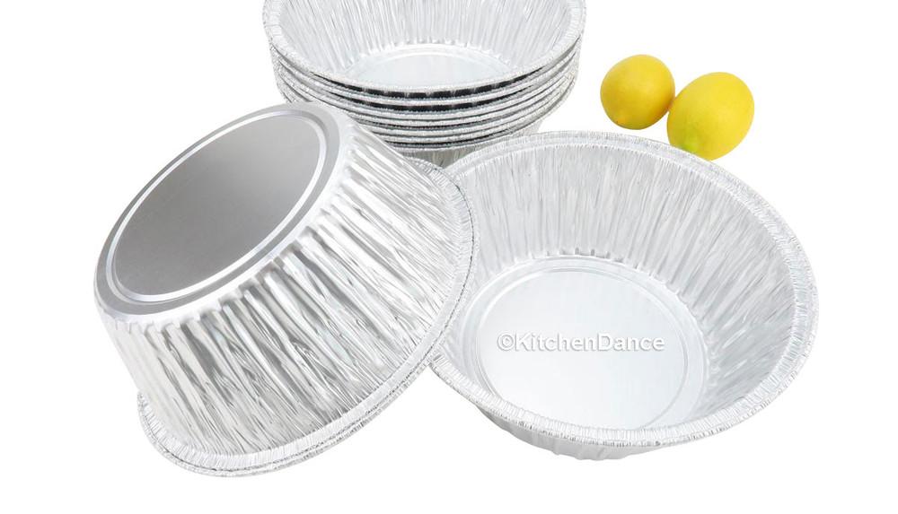 "disposable aluminum foil 8"" round baking pan - cake, casserole"