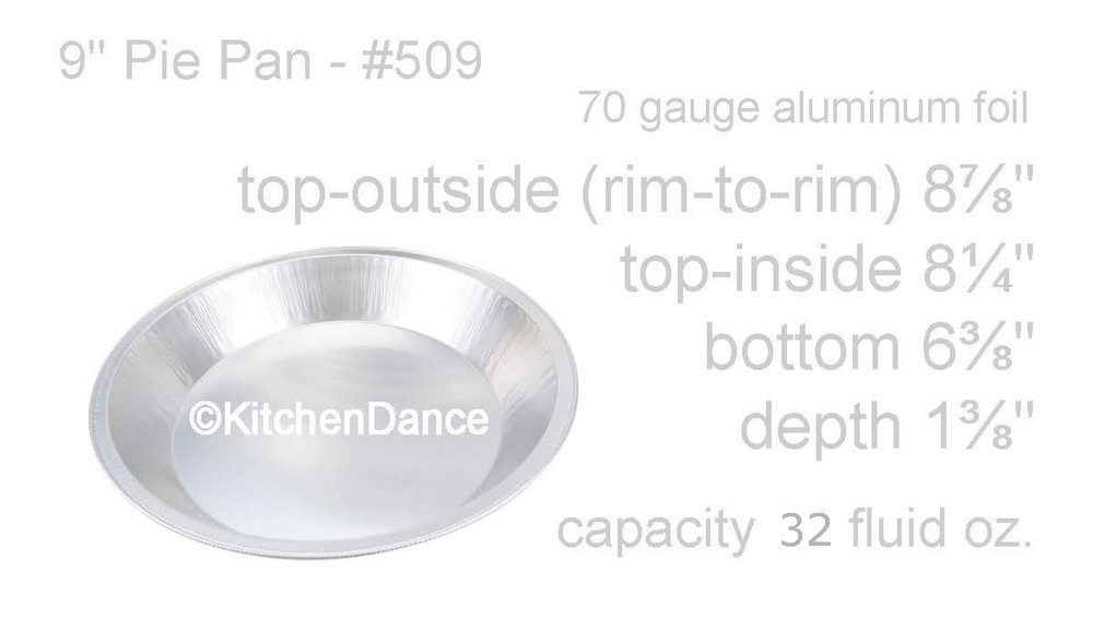 "Disposable Aluminum Heavy Foil 9"" Pie Pan"