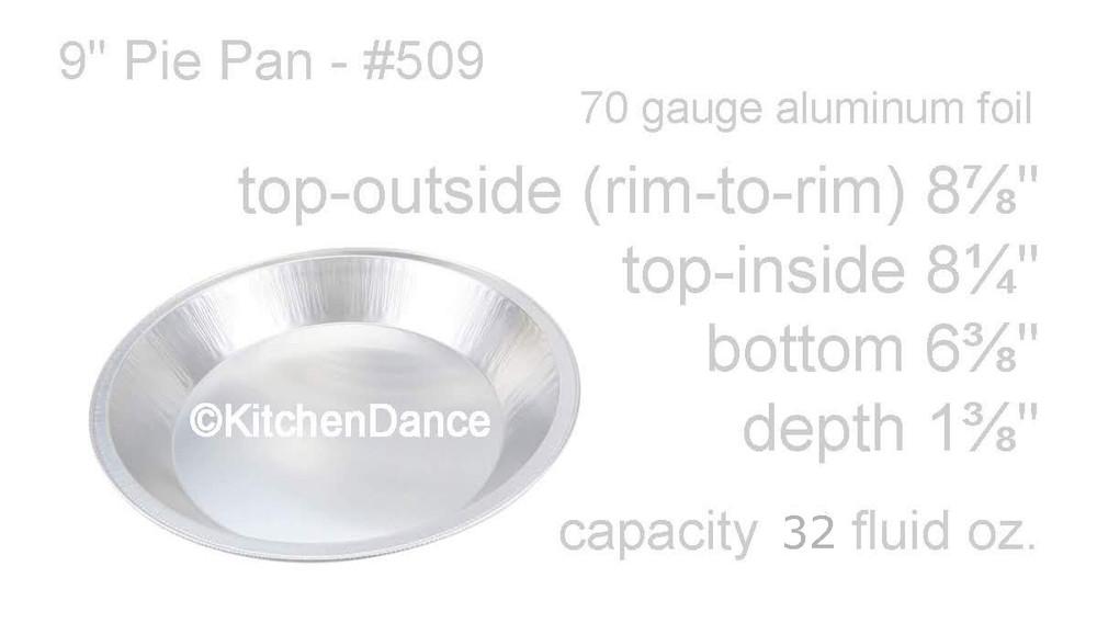 """Disposable Aluminum Heavy Foil 9"""" Pie Pan"""