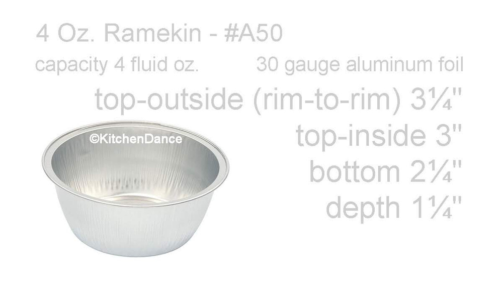 disposable aluminum foil 4 oz. ramekins, individual serving size dessert cup, baking pans