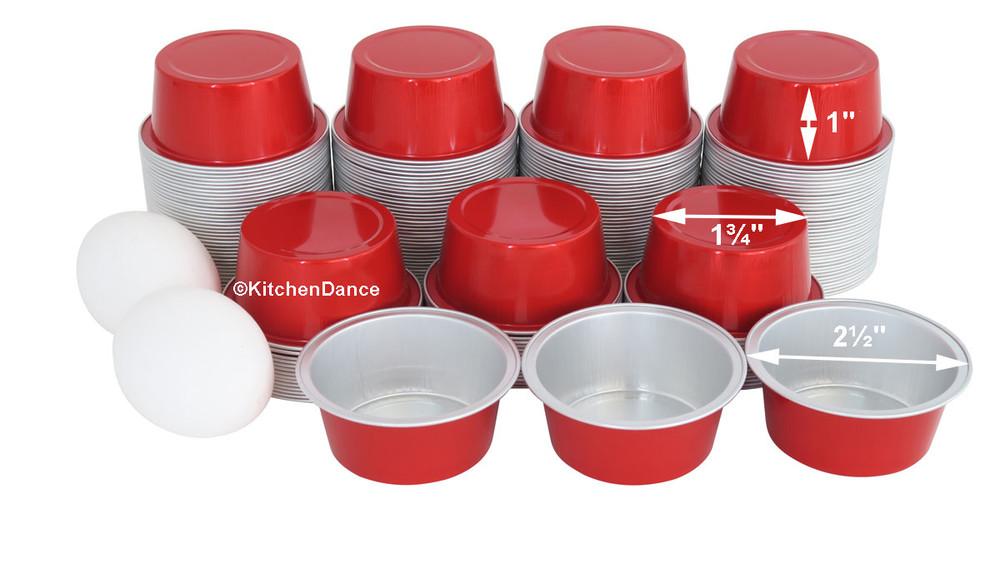 disposable aluminum foil 1½ oz. mini dessert cups, baking cups