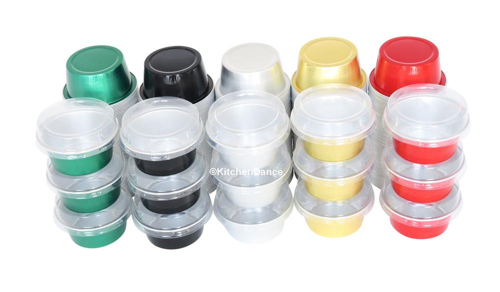 disposable aluminum foil  1½ ounce dessert cups, individual serving size
