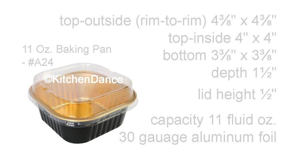disposable aluminum foil 11oz. cups/pans with lids, holiday baking, dessert cups
