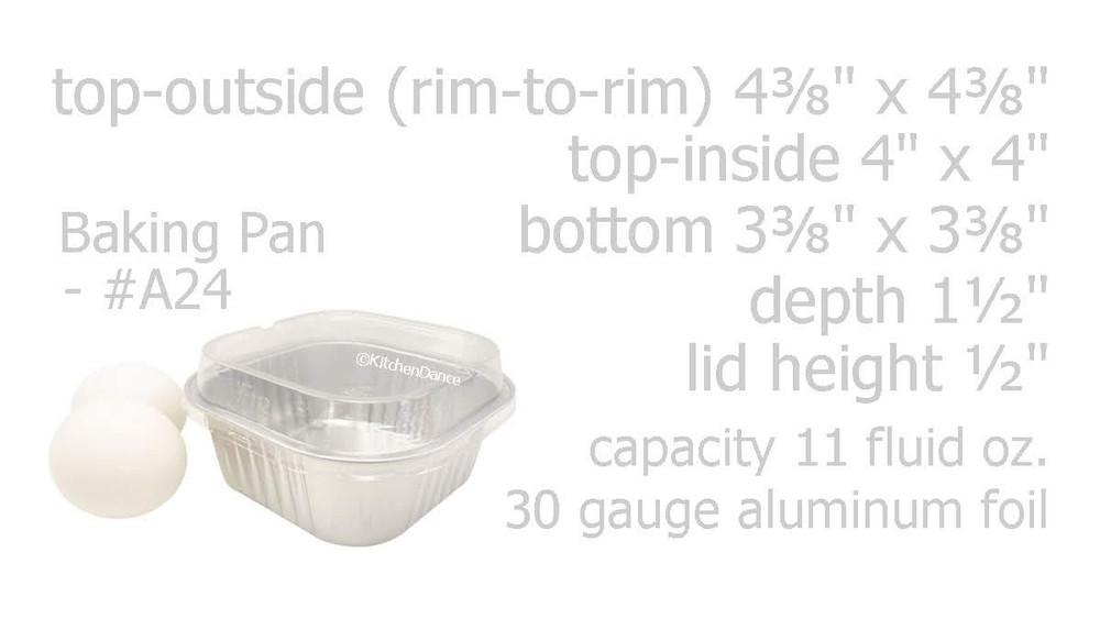 individual dessert pans, cake cups, disposable dessert pans, aluminum pans for baking