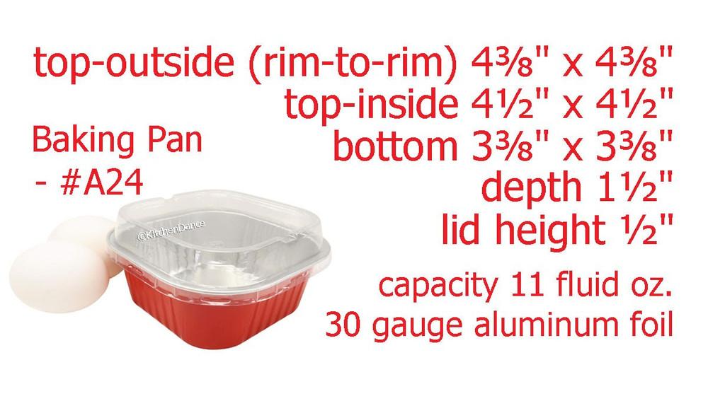 11 oz. Square Foil Dessert Cup with Plastic Lids    #A24P
