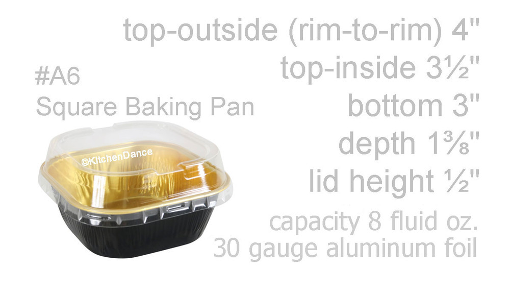 """disposable aluminum foil 4"""" colored  holiday baking pans, dessert cups, food containers with lid"""