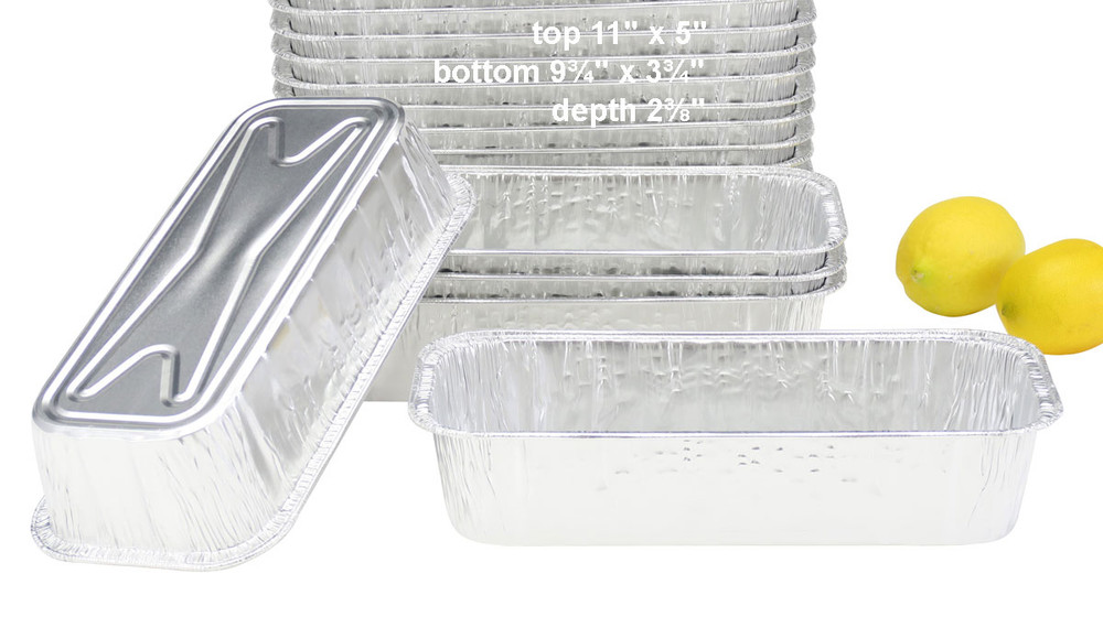 disposable aluminum foil 3 pound loaf pan, baking pans, food containers