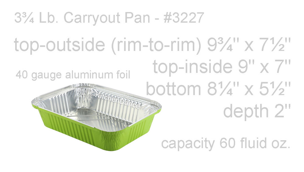 disposable aluminum foil 3¾ lb. carryout pans, takeout pan, serving pan,  holiday baking pans, food serving pan