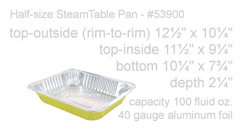 disposable aluminum foil colored half size steam table pan - colored holiday baking pan
