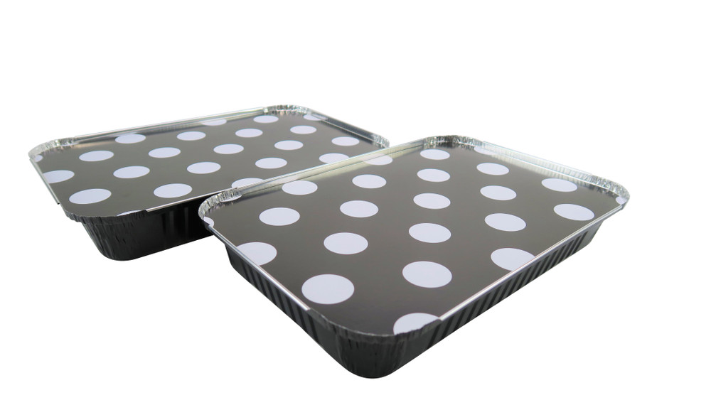 disposable aluminum foil 4½ lb. baking pan, carryout pan, take out pan, food storage container with board lid