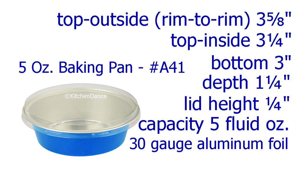 disposable aluminum foil 5 oz. small baking pan, individual serving size dessert cup, food container with lid