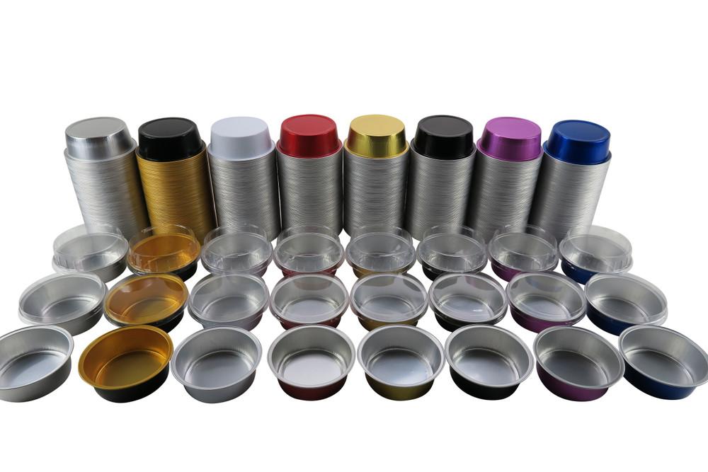 5 oz. Colored Foil Ramekins  with Plastic Lid    #A41P