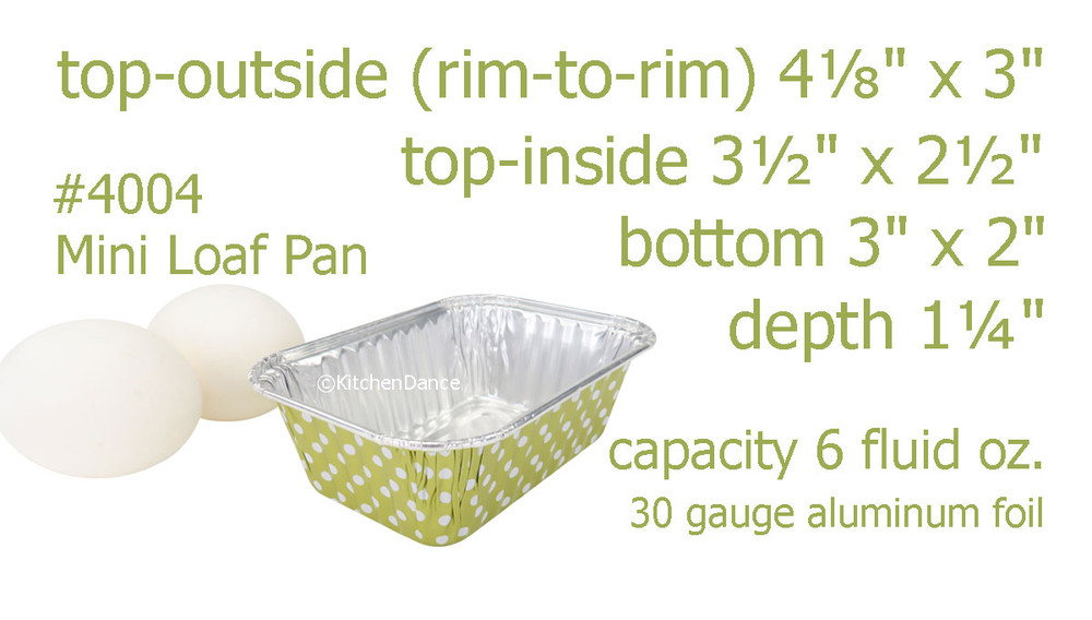 disposable aluminum foil 6 oz. mini loaf pan, mini baking pan