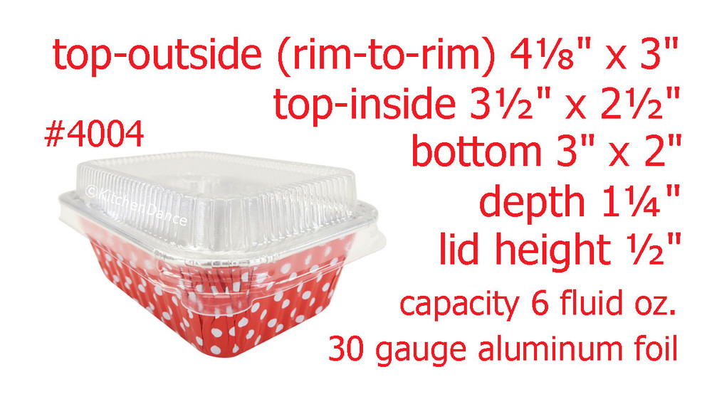 disposable aluminum foil mini loaf pan, small baking pan, food container with plastic lid