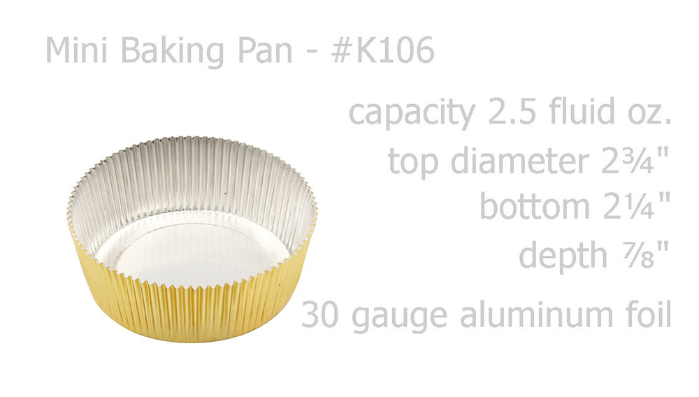 disposable aluminum foil tart shell, cupcake liner, mini baking pan