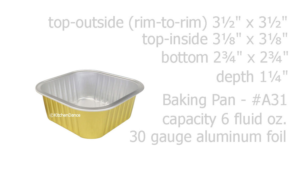 disposable aluminum foil small baking pan, dessert serving pan