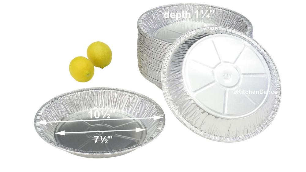 """disposable aluminum foil 11"""" pie pans, baking pans"""