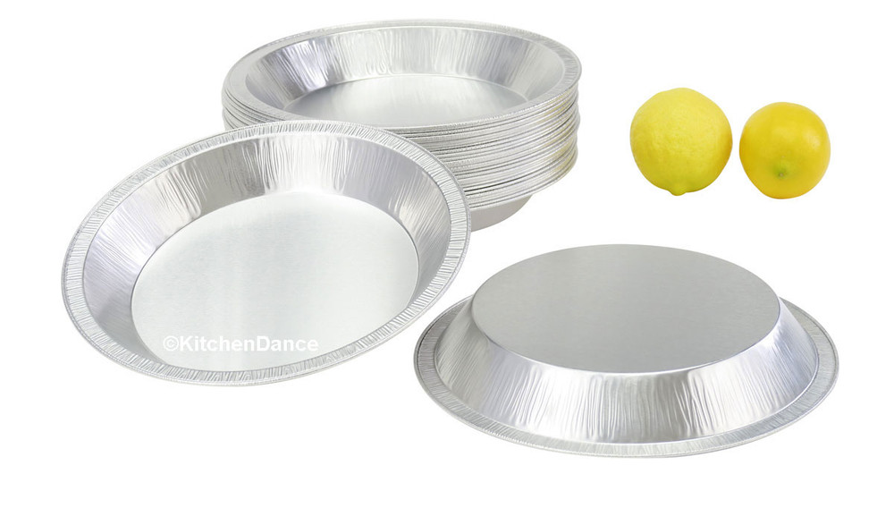 "disposable aluminum foil 9"" pie pan, heavy weight, heavy foil, heavy duty baking pan"
