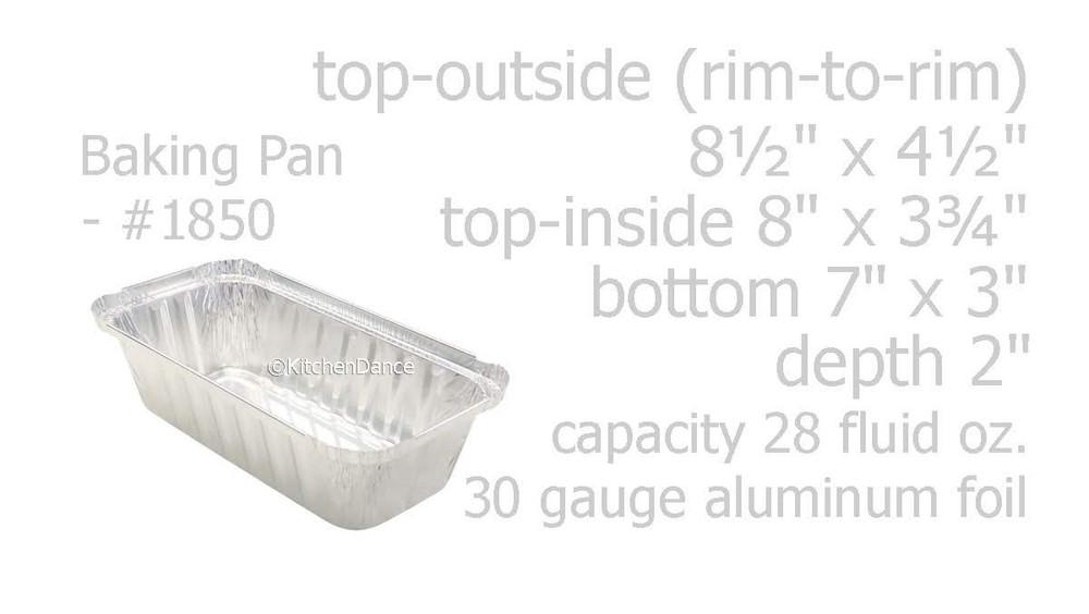 disposable aluminum foil 2 lb. loaf pan, baking pan, food serving pan