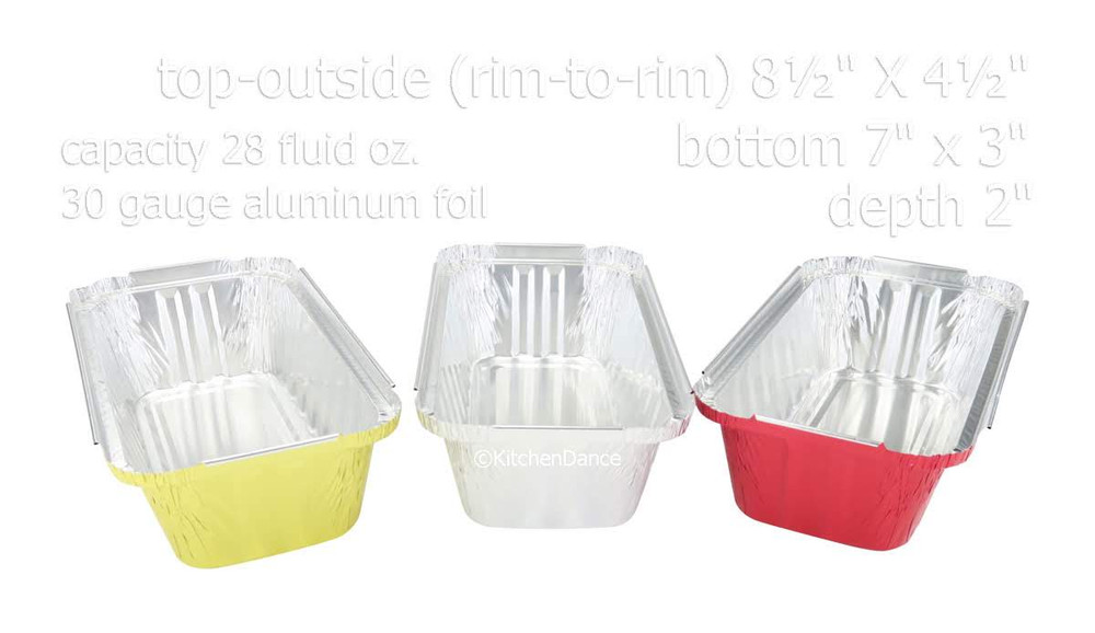 disposable aluminum foil 2 lb. loaf pan, baking pan, food sering pans