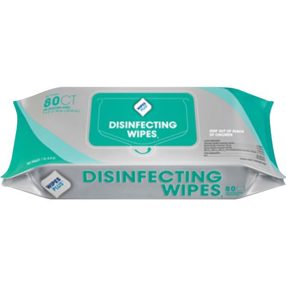 Wipes Plus Lemon Scent Disinfecting Wipes- 80 count pack