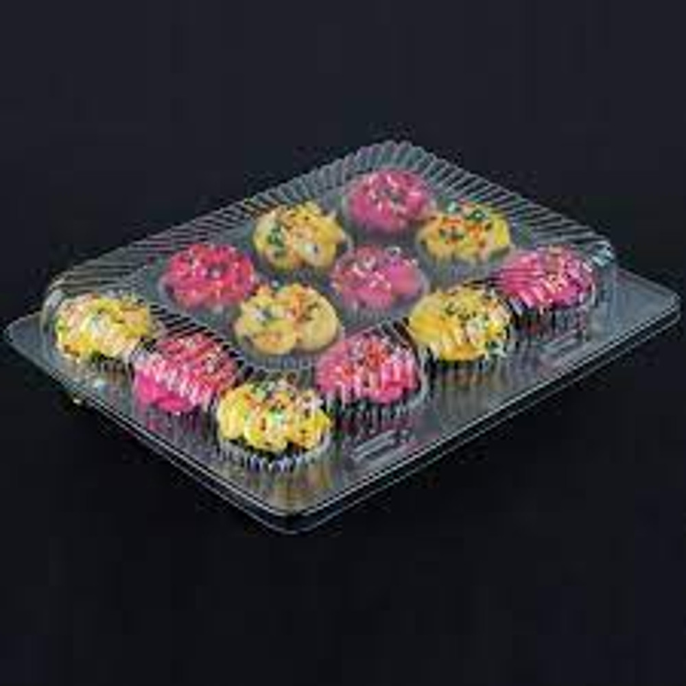 12 Count Clear Plastic Cupcake Container - #CPC-212