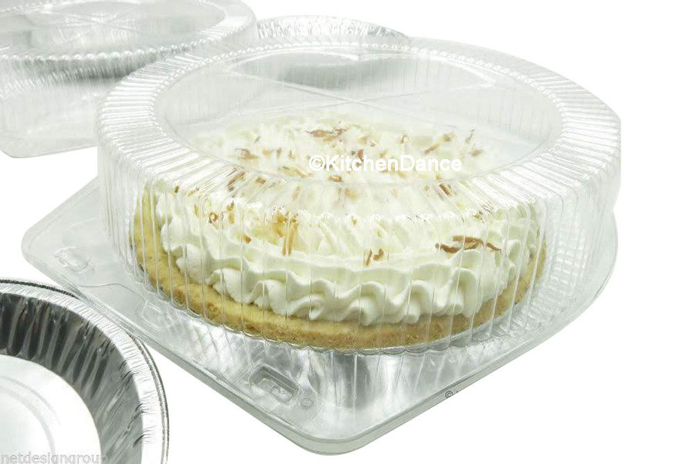 """10"""" pie container - clear plast clamshell - high dome"""