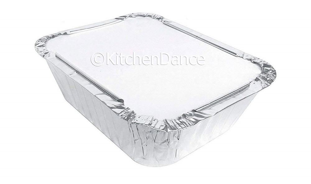 disposable aluminum foil 1 lb. carryout pan, takeout pan, baking pan, food serving pan