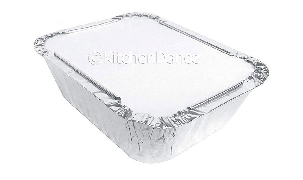 disposable aluminum foil 1 lb. carryout pan, takeout pan, baking pan, food serving pan