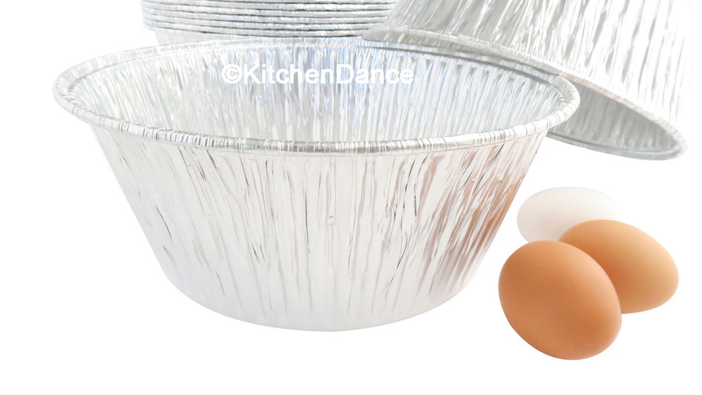 "disposable aluminum foil 10"" round all purpose baking pan, food container"