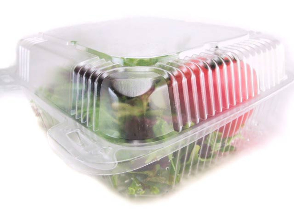 hinged lid deli storage container