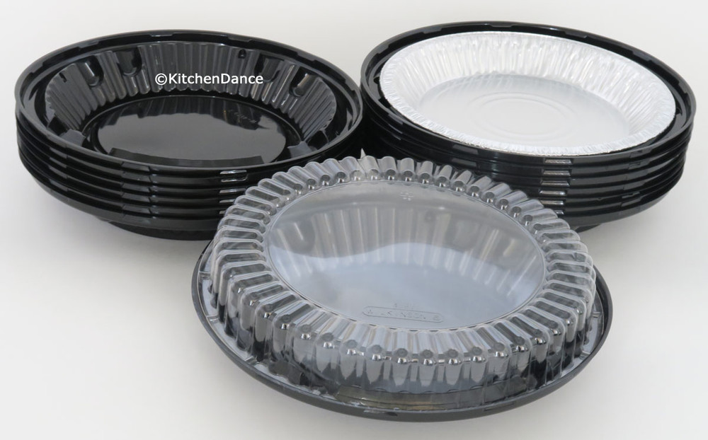 "10"" pie container - a 2 piece plastic set"