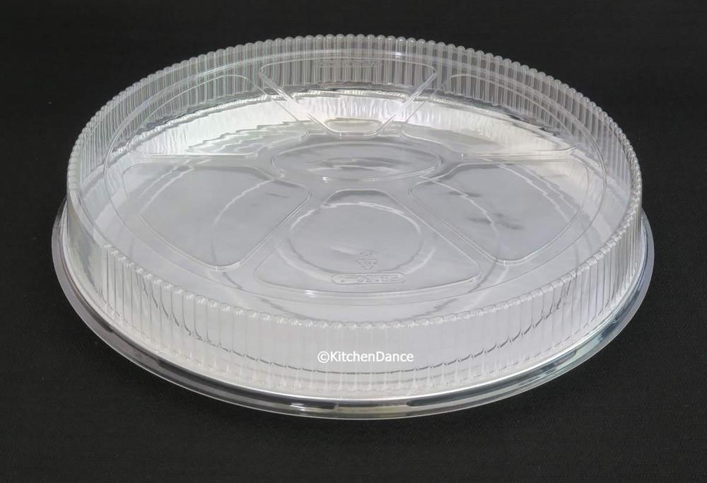 """12"""" Aluminum Foil Pizza Pan with Plastic Lid   #C81P"""