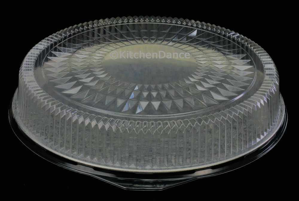 """disposable aluminum foil 18"""" catering tray, food serving tray, with plastic dome lid"""