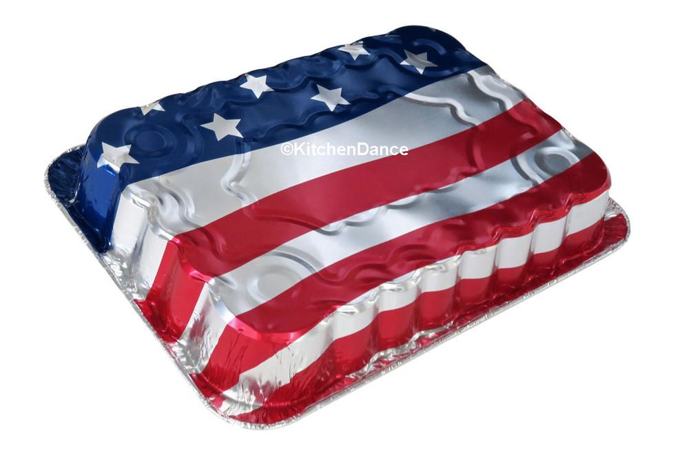 disposable aluminum foil baking pan, American Flag,  4th. of July