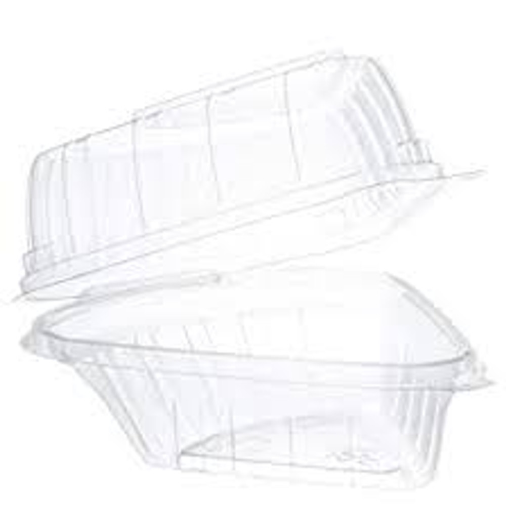 Standard Plastic Hinged Pie Slice Container  #CPC-C54