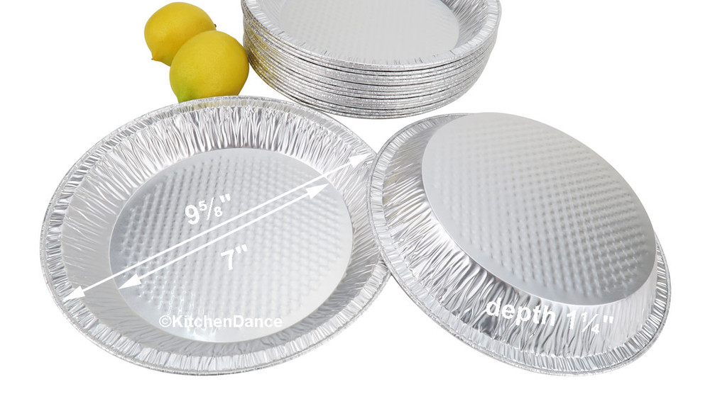 "disposable aluminum foil 10"" pie pans, baking pans"