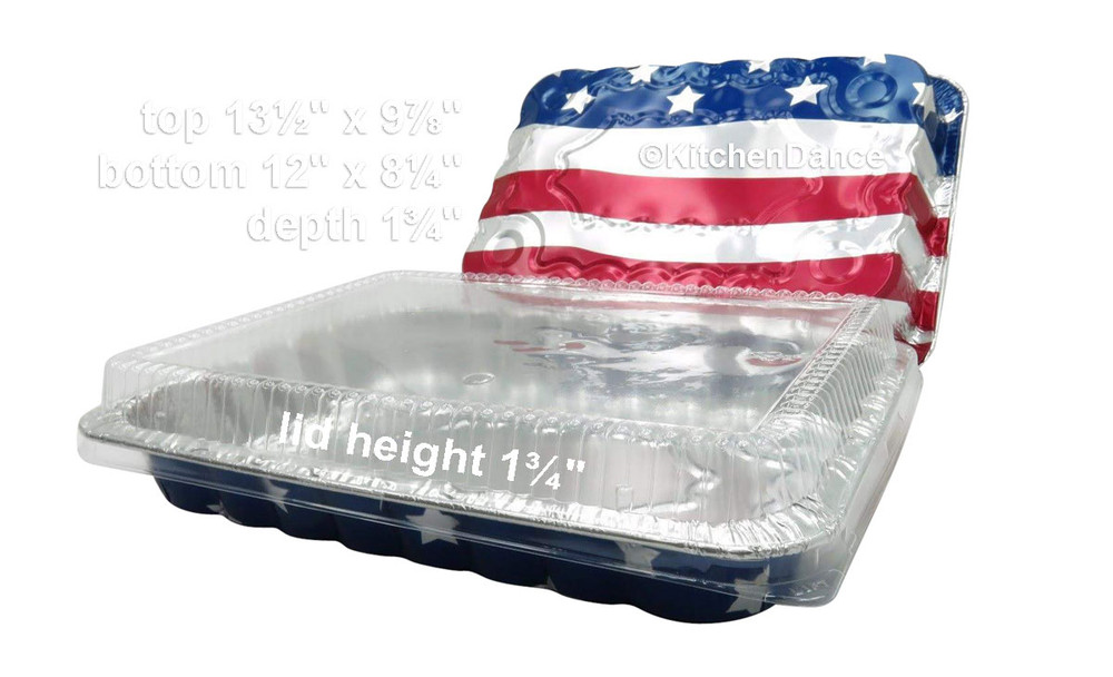 disposable aluminum foil holiday baking pans, July Forth