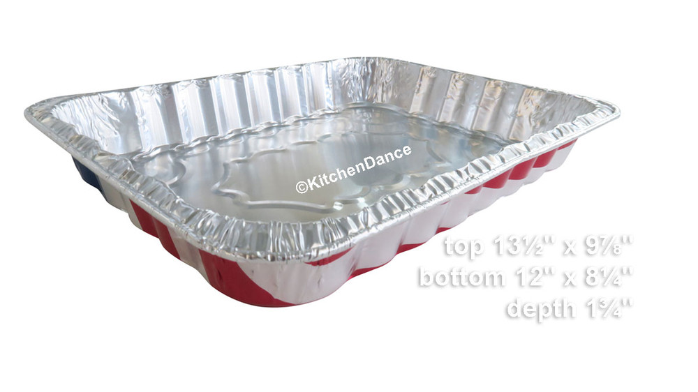 disposable aluminum foil July Fouth holiday baking pan