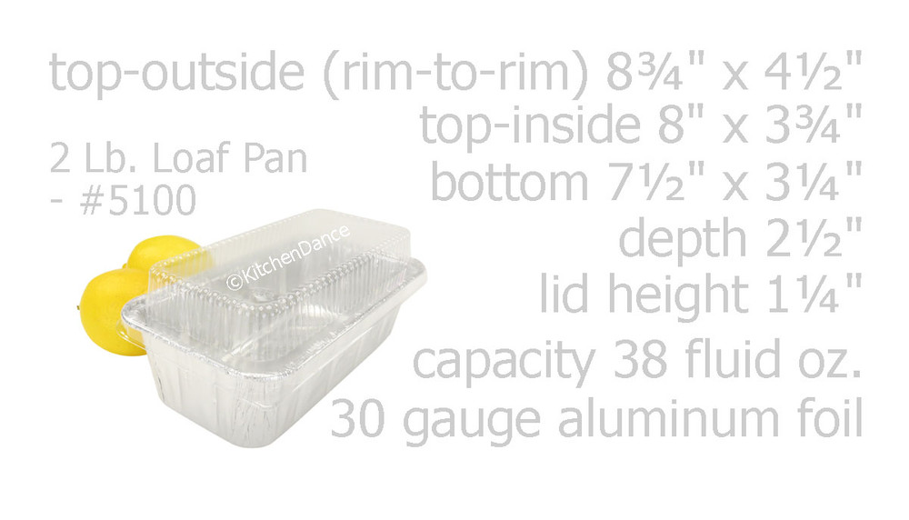 disposable aluminum foil 2 LB. loaf pan, carryout pan / takeout pan, baking pans, food container with plastic lid