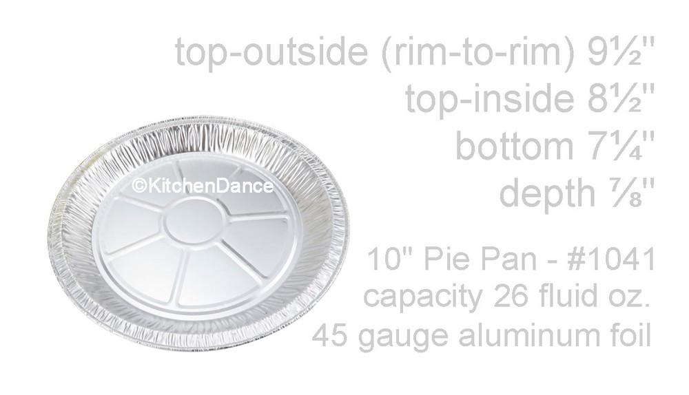 "disposable aluminum foil 10"" pie pan, baking pan - medium depth"