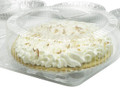 "9"" pie container - clear plastic clamshell - high dome"