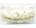"""9"""" pie container - clear plastic clamshell - high dome"""