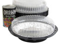 """8"""" two piece low dome plastic pie container"""