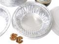 "disposable aluminum foil 5"" small pie / tart pan, pie tin"